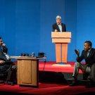 PRESIDENT BARACK OBAMA DURING 2012 DEBATE PRESENTATIONS - 8X10 PHOTO (CC-032)