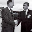 WERNHER VON BRAUN WITH U.S. REPRESENTATIVE GERALD R. FORD - 8X10 PHOTO (DA-232)