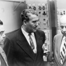 DR. WERNHER VON BRAUN AND OTHERS IN FIRING ROOM AT CAPE 8X10 NASA PHOTO (DA-241)