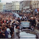PRESIDENT JOHN F. KENNEDY MOTORCADE IN CORK, IRELAND 1963 - 8X10 PHOTO (AA-040)