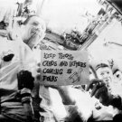 APOLLO 7 CREW SEEN IN FIRST LIVE TV TRANSMISSION FROM SPACE 8X10 PHOTO (BB-078)