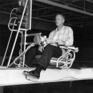 NACA RESEARCH PILOT NEIL ARMSTRONG ON X-15 SIMULATOR - 8X10 NASA PHOTO (AA-456)