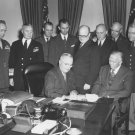 PRESIDENT S. HARRY TRUMAN SIGNS ARMED FORCES DAY PROCLAMATION - 8X10 PHOTO (AA-037)