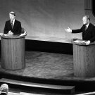 PRESIDENT GERALD FORD DEBATES JIMMY CARTER IN FIRST DEBATE - 8X10 PHOTO (AA-873)