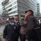 GEORGE W. BUSH SURVEYS DAMAGE AT THE WORLD TRADE CENTER ON SEPTEMBER 11 9/11 - 8X10 PHOTO (AA-062)