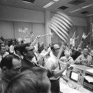 MISSION CONTROL CELEBRATES AT CONCLUSION OF APOLLO 11 - 8X10 NASA PHOTO (AA-074)