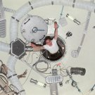 SKYLAB 4 ASTRONAUT ED GIBSON DEMOS EFFECTS OF ZERO-G - 8X10 NASA PHOTO (AA-097)