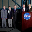 SURVIVING MERCURY ASTRONAUTS W/ JIM LOVELL AT KSC 2002 8X10 NASA PHOTO (EP-734)