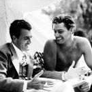 DIRECTOR CEDRIC GIBBONS & JOHNNY WEISSMULLER SET OF 'TARZAN & HIS MATE' 8X10 PHOTO (AB-054)