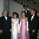 PRESIDENT JOHN F. KENNEDY AND JACKIE AT WHITE HOUSE DINNER - 8X10 PHOTO (AB-084)