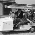FRANK SINATRA AND DEAN MARTIN ON GOLF CART AT WARNER BROS. - 8X10 PHOTO (AA-213)