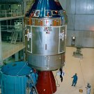 APOLLO 11 COMMAND/SERVICE MODULES IN MANNED SPACECRAFT BLDG 8X10 PHOTO (BB-038)