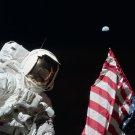 APOLLO 17 ASTRONAUT HARRISON SCHMITT ON THE MOON - 8X10 NASA PHOTO (BB-109)