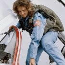 TEACHER IN SPACE CHRISTA McAULIFFE IN T-38 FLIGHT TRAINING - 8X10 PHOTO (BB-220)
