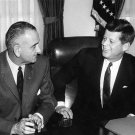 JOHN F. KENNEDY WITH VICE PRESIDENT LYNDON B. JOHNSON - 8X10 PHOTO (BB-228)