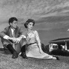 JOHN F. KENNEDY & FIANCÉ JACQUELINE BOUVIER IN 1953 - 8X10 PHOTO (AA-794)