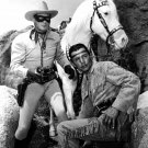 'THE LONE RANGER' CLAYTON MOORE & JAY SILVERHEELS 8X10 PUBLICITY PHOTO (AA-573)