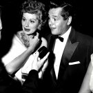 LUCILLE BALL & DESI ARNAZ AT PREMIER OF 'A STAR IS BORN' - 8X10 PHOTO (AA-576)