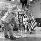 ASTRONAUTS ALAN SHEPARD AND STU ROOSA DURING EVA TRAINING - 8X10 PHOTO (EP-179)