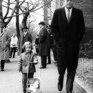 JOHN F. KENNEDY & CAROLINE IN GEORGETOWN NOVEMBER 1960 - 8X10 PHOTO (BB-816)