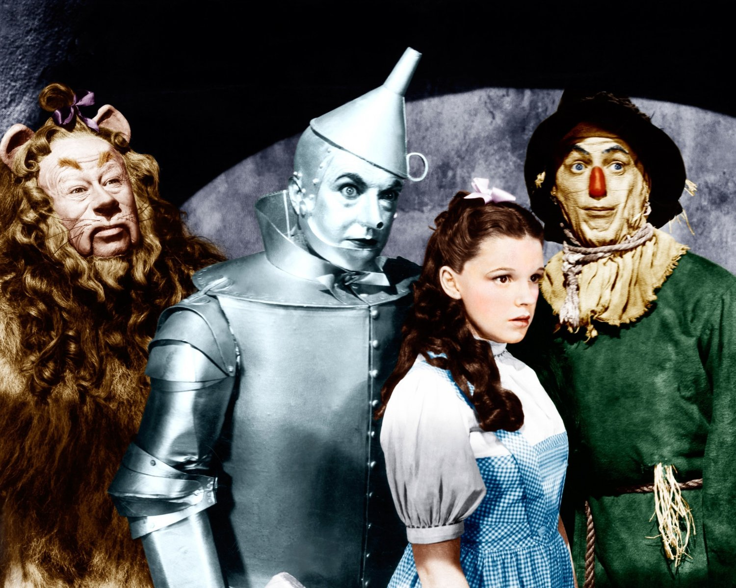 CAST FROM THE FILM 'THE WIZARD OF OZ' - 8X10 PUBLICITY PHOTO (BB-820)