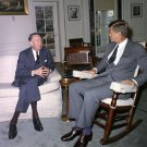 PRESIDENT JOHN F. KENNEDY MEETS WITH US AMBASSADOR TO USSR - 8X10 PHOTO (AA-171)