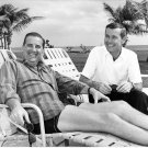 ED MCMAHON AND JOHNNY CARSON RELAX IN FLORIDA IN 1960s - 8X10 PHOTO (AA-172)
