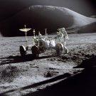 APOLLO 15 ASTRONAUT JAMES IRWIN ON THE LUNAR SURFACE - 8X10 NASA PHOTO (AA-196)