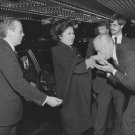 PHILIPPINES' FIRST LADY IMELDA MARCOS ENTERS THE WALDORF - 8X10 PHOTO (AA-242)