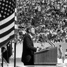 PRESIDENT JOHN F. KENNEDY SPEECH AT RICE UNIVERSITY MOON - 8X10 PHOTO (BB-252)