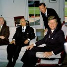 PRESIDENT JOHN F. KENNEDY MEETS WITH PRESIDENT OF TUNISIA - 8X10 PHOTO (BB-255)