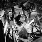 APOLLO 11 COMMAND MODULE PILOT MICHAEL COLLINS IN SIM - 8X10 NASA PHOTO (BB-762)