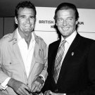 ACTORS JAMES GARNER AND SIR ROGER MOORE - 8X10 PHOTO (DA-112)