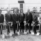 DR. WERNHER VON BRAUN AT SPACE & ROCKET CENTER GROUND BREAKING - 8X10 PHOTO (DA-408)