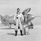 TEST PILOT CECIL POWELL STANDS IN FRONT OF THE NASA X-24A - 8X10 PHOTO (EP-146)