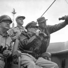 GEN. DOUGLAS MACARTHUR OBSERVES THE SHELLING OF INCHEON - 8X10 PHOTO (EP-842)