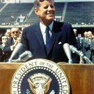 JOHN F. KENNEDY HISTORIC SPEECH AT RICE UNIV 09/12/1962 8X10 NASA PHOTO (EP-005)