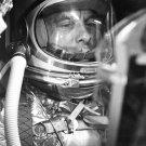 ASTRONAUT ALAN SHEPARD IN MERCURY CAPSULE DURING SIM - 8X10 NASA PHOTO (EP-007)