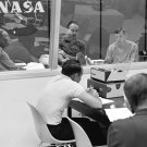 APOLLO 11 DEBRIEFING ARMSTRONG, ALDRIN, COLLINS 1969 - 8X10 NASA PHOTO (AA-447)