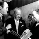 HUBERT HUMPHREY & SEN WILLIAM BENTON WITH GOLDA MEIR IN 1970 8X10 PHOTO (AA-936)