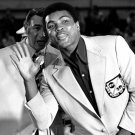 MUHAMMAD ALI JOKES WITH HOWARD COSELL @ 1972 BOXING TRIALS - 8X10 PHOTO (ZY-138)