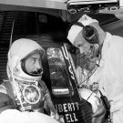 GUS GRISSOM AND JOHN GLENN CHAT BEFORE LIBERTY BELL 7 - 8X10 NASA PHOTO (EP-469)
