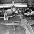 VARIOUS NACA RESEARCH AIRCRAFT IN HANGAR IN 1953 - 8X10 PHOTO (AA-676)