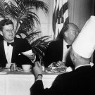 PRESIDENT JOHN F. KENNEDY TALKS WITH CHEF AT BIRTHDAY PARTY 8X10 PHOTO (AA-262)