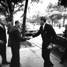 JOHN F. KENNEDY GREETED BY PANAMA PRESIDENT CHIARI IN 1962 - 8X10 PHOTO (AA-263)