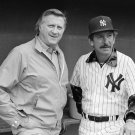 NEW YORK YANKEES MANAGER BILLY MARTIN & OWNER GEORGE STEINBRENNER 8X10 PHOTO (AA-603)