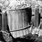 RARELY SEEN BACK SIDE OF HOOVER DAM - 8X10 PHOTO (AA-596)