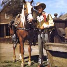 "ROY ROGERS WITH HIS PALOMINO HORSE ""TRIGGER"" - 8X10 NASA PHOTO (AA-599)"