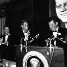 PRESIDENT JOHN F. KENNEDY & BROTHER EDWARD AT FUNDRAISER - 8X10 PHOTO (AA-765)