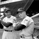 BASEBALL LEGENDS JOE DIMAGGIO AND MICKEY MANTLE NY YANKEES - 8X10 PHOTO (AA-725)